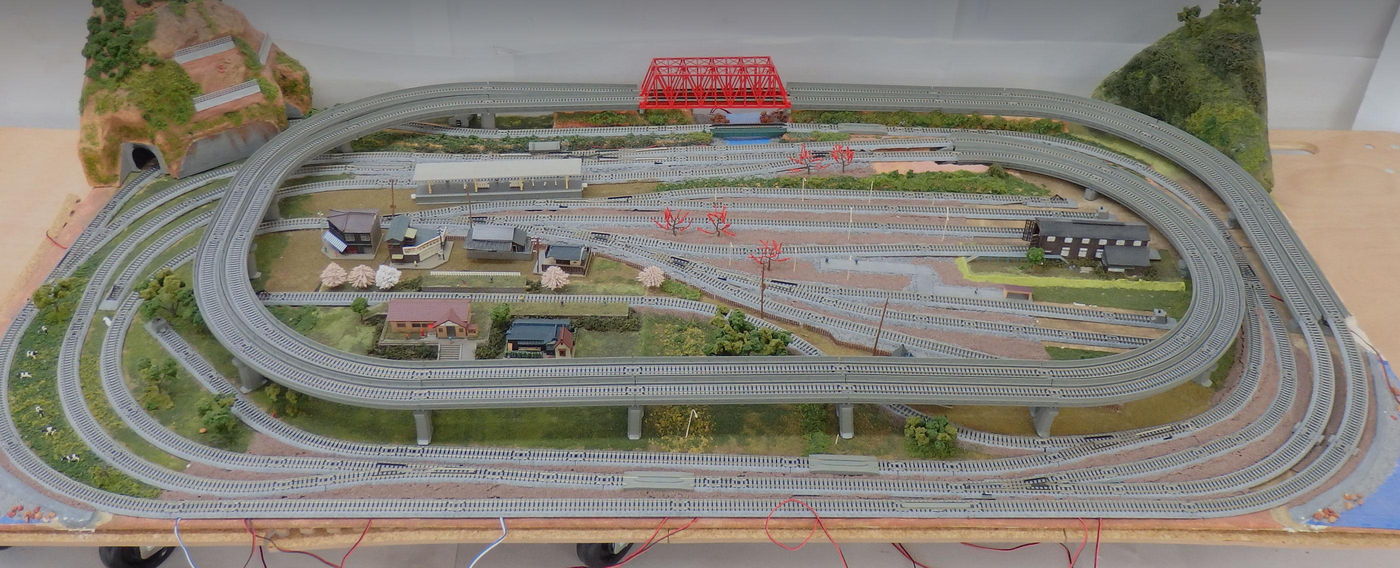 鉄道模型のジオラマ